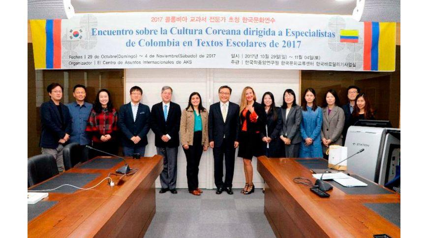 Encuentro sobre la cultura coreana dirigida a especialistas de Colombia en textos escolares